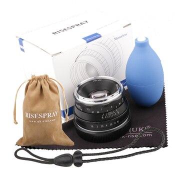 35mm F1.6 APS-C Multilayer Film Coating Mirrorless Camera Lens  for Canon EOS-M Mount E Mount Fuji FX Mount M4/3 Mount
