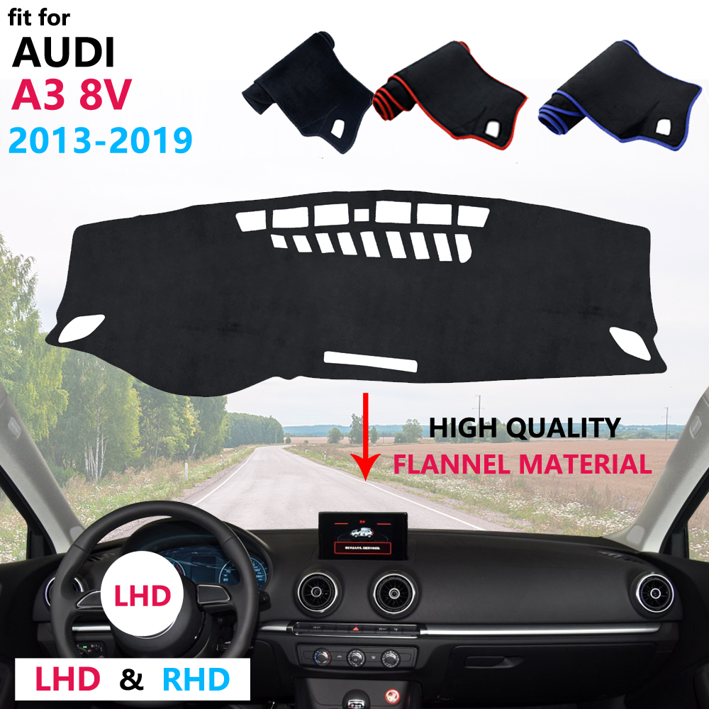 for Audi A3 8V 2013~2019 Dashboard Cover Protective Pad Carpet Anti-UV Flannel Mat Car Accessories S-line 2014 2015 2017 2018 image