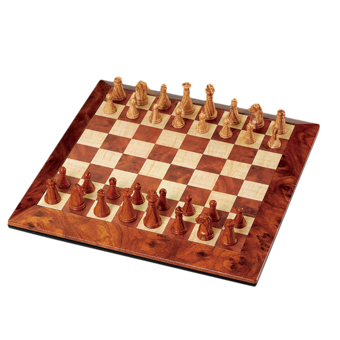 High-end Magnetic Game Chess Imitation Wood Grain International Chess image