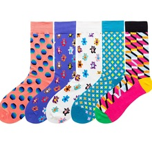 2019 New Women Socks Funny Cute Cartoon Graffiti Multicolor Simple Street Style Popular
