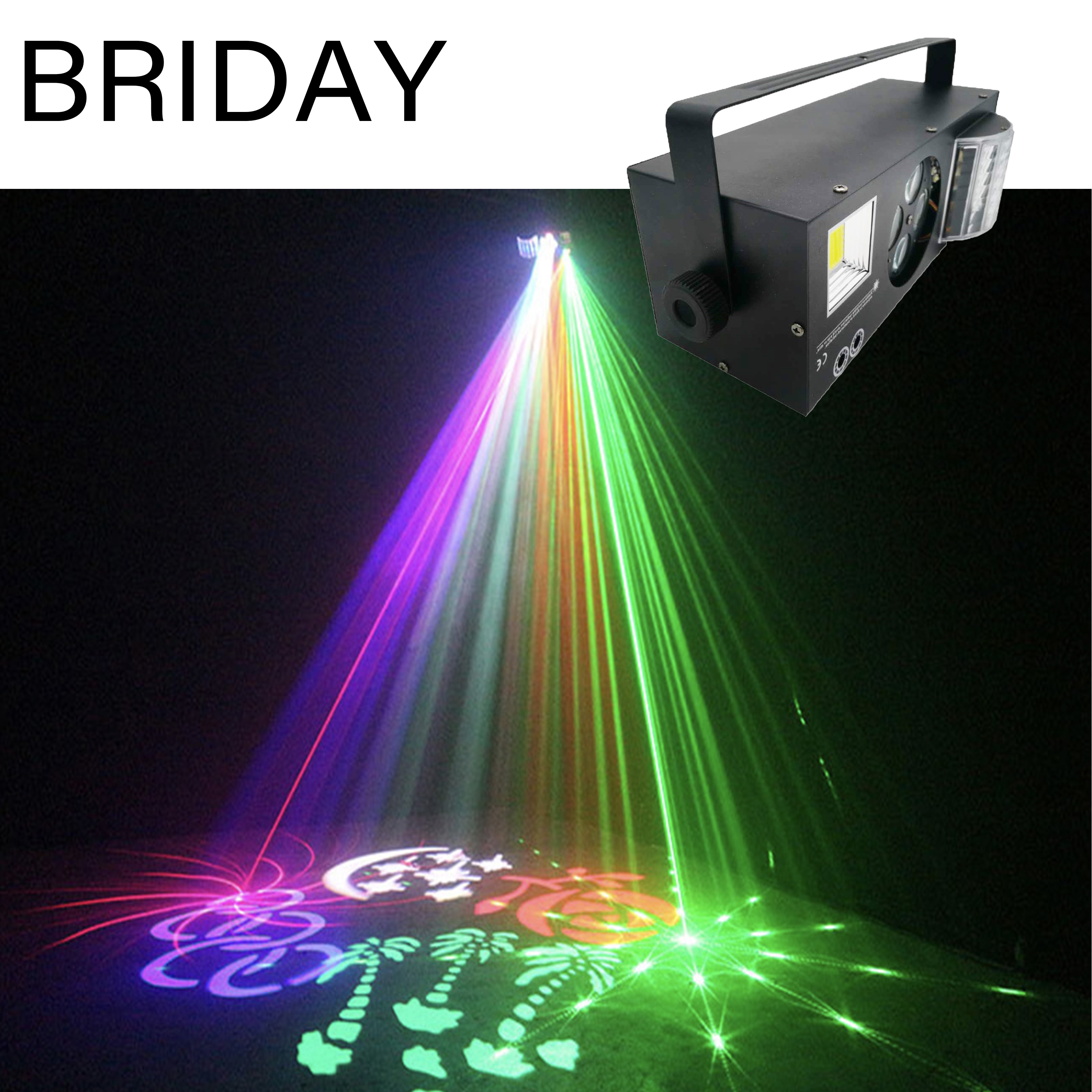 Free Mailing LED Laser Strobe 4in1 DMX512 Stage Effect Lights Good For DJ Disco Birthday Party Wedding Decoration Clubs And Bar