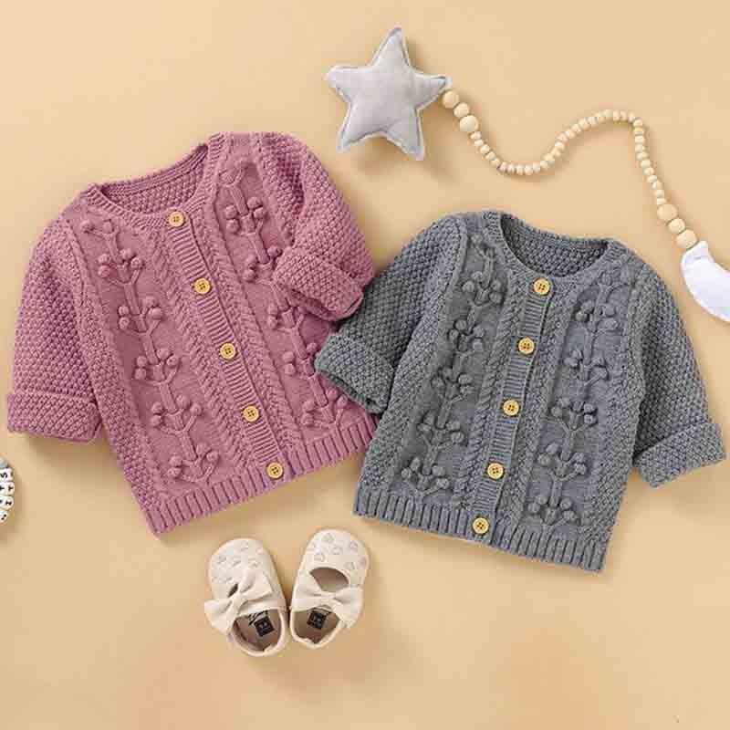 Boys Baby dziewczyny sweter sweter jesień wiosna sweter dziergany sweter ubrania dla dzieci maluch mała piłka sweter dzieci płaszcz