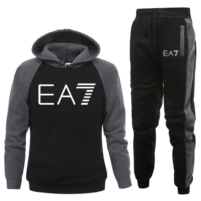 Men Clothing Set Sportswear 2020 Autumn New Hoodies Sweatshirts Sporting Sets Men's Tracksuits Two Piece Hoodies+Pants 2pcs Sets