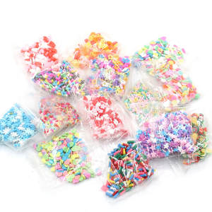 Charms Clear Clay Diy-Supplies Fluffy Slime Polymer Sprinkles Kids Toys Addition Hollow-Slices