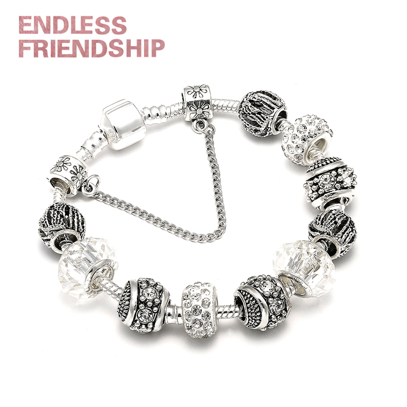 Dropshipping Hot Sale AAA Zircon Ball Charm Bracelet For Women Fit Brand Bracelet Jewelry DIY Making Accessories Gifts