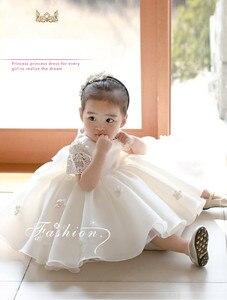Новинка; платье для маленьких девочек; пышные вечерние платья-пачки с цветами для маленьких девочек; платье для крещения; Цветочные наряды д...
