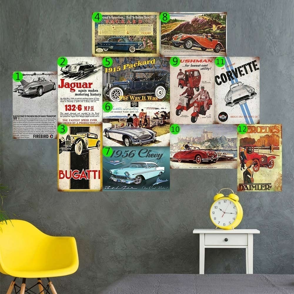 CLASSIC CAR Vintage Tin Sign Bar Pub Cafe Store Home Wall Decor Metal Poster
