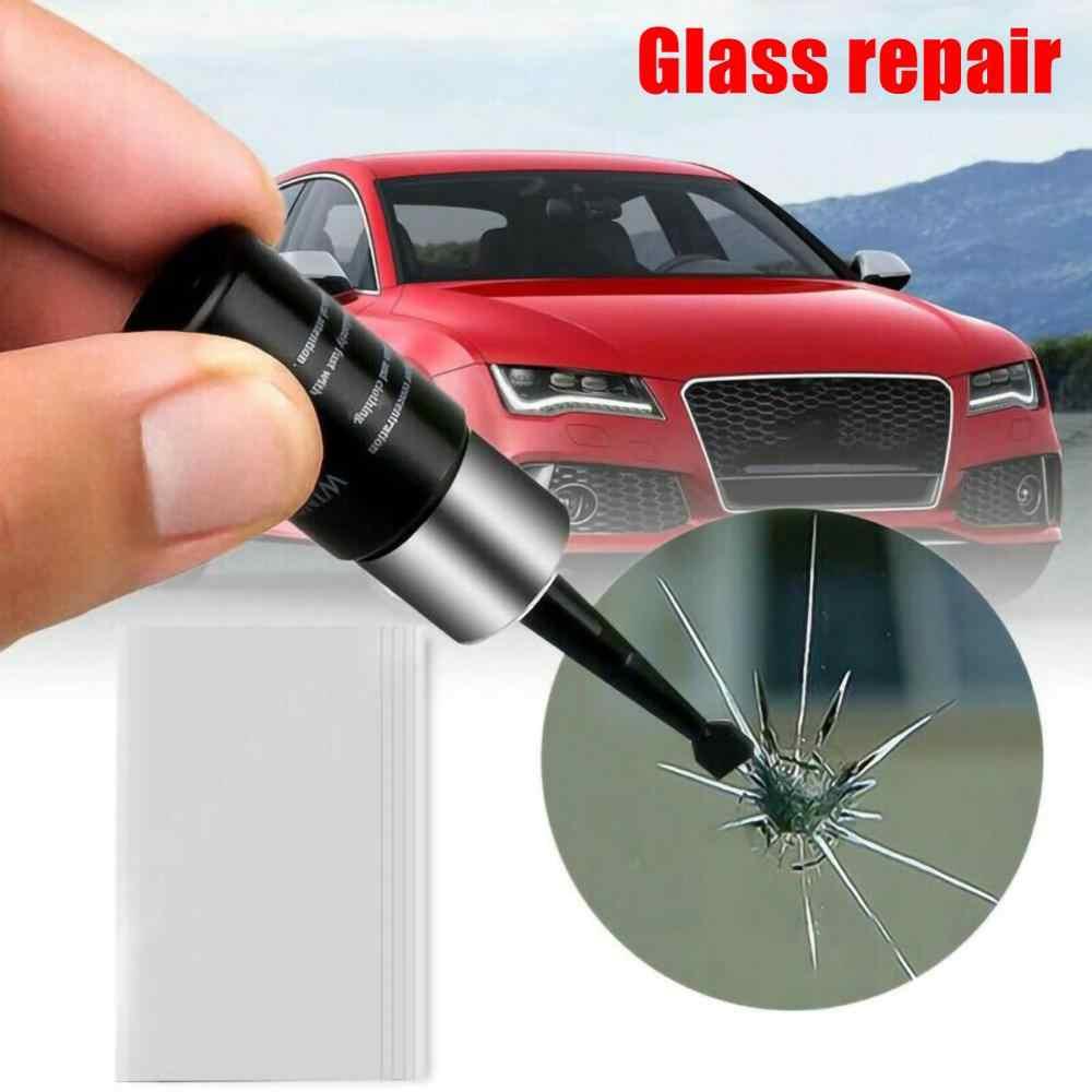 دروبشيبينغ 2 حزمة زجاج سيارة أداة إصلاح سيارة زجاج سيارة نانو إصلاح السائل عدة زجاج النافذة إصلاح الكراك رقاقة