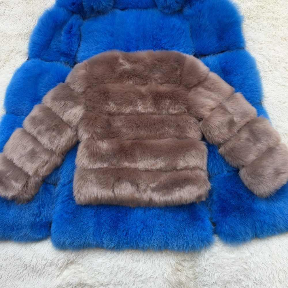 Flauschigen Faux Pelzmantel Frauen Winter Jacke Mode Dicke Warme Mantel Faux Fuchs Pelz Mäntel Weibliche Pelz Jacke Casual Partei mantel