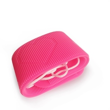 Hot Silicone Dual Side Back Scrubber Belt Body Bath Brush Cleaning Tools Massage Brush multifunction body massage tools sided natural bristles scrubber wood long handle bath body brush scrubber relaxation tools tn