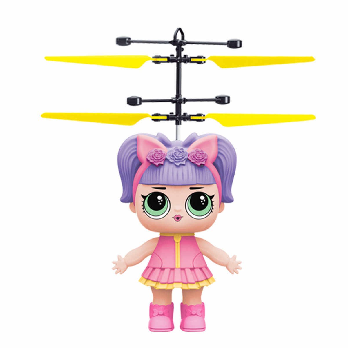 Mini Flying Magical Princess Girl Cute Dolls Toy Infrared Induction RC Helicopter Flying Quadcopter Drone Dolls Kids Toys Gifts