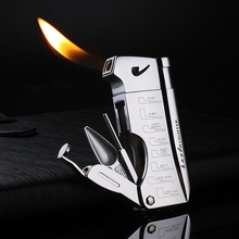 Multifunction Torch Lighter Free Fire Oil Metal Butane Gas Turbo Pipe Lighter Gift