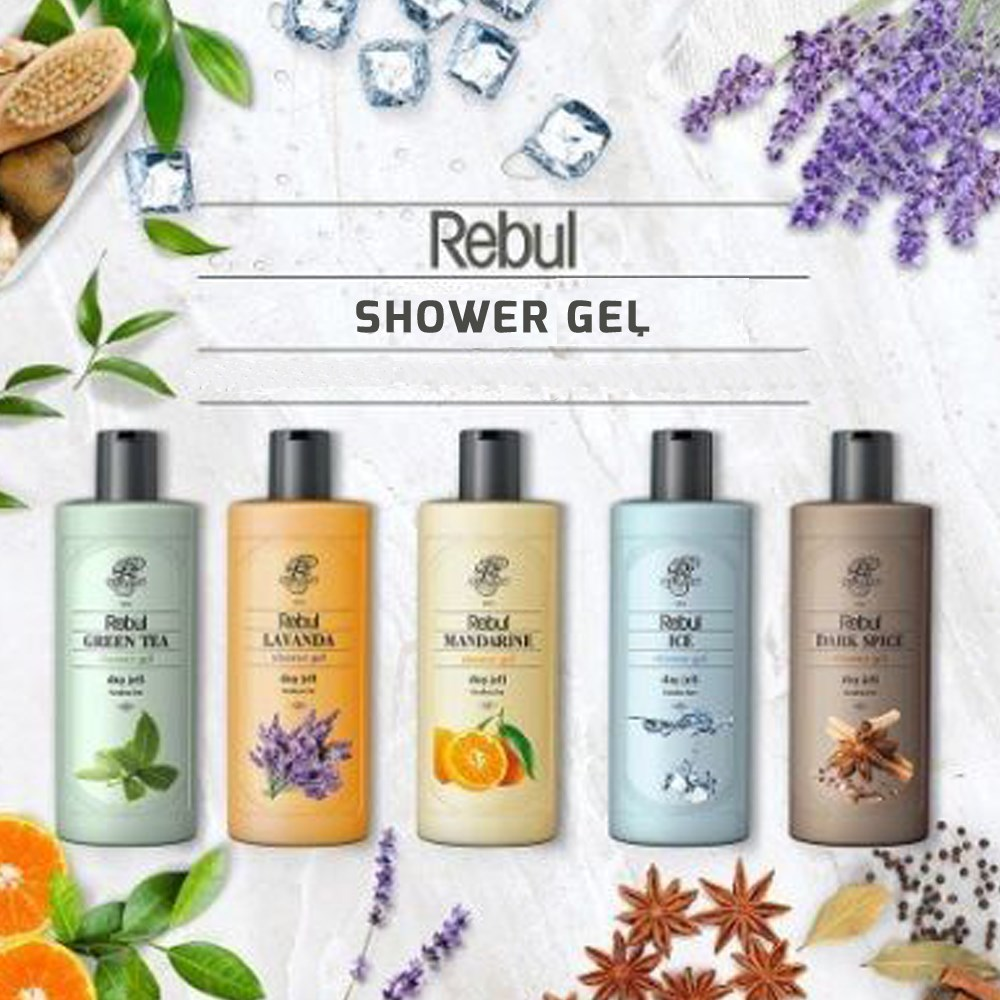 Rebul Shower Gel 500 Ml Liquid Body Wash Shampoo Moisture Skin Clean Bath Body Wash Lotion Nourishing Fragrant  Essence Male Skin Care Fresh