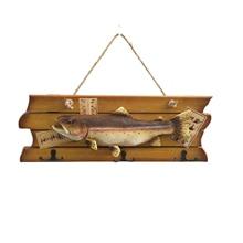 Hanging Decoration Wall Surface Hook Rack Simulation Fish Pendant Wooden Creative Resin Handicraft Decoration Crafts TB