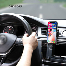 Universal Car Phone Holder in Car Air vent Mount holder for iPhone 11 7 8 X XS MAX Xiaomi Support Mobile Phone Car Holder Stand universal mini smart phone holder stand base for iphone 7 x xs max for xiaomi for oneplus candy color mobile phone bracket