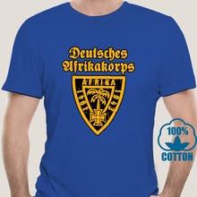 5456A Mannen Deutsches Afrikakorps Dak Embleem Wehrmacht T-shirts Tank Tijger Panzer Katoen Tops Korte Mouw Tee Shirt T-shirts