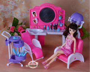 Настоящая принцесса Барби Парикмахерская красота парикмахера салон волос 1/6 bjd кукла аксессуары для мебели