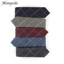 Holiday Festival Wedding Gift  for Men Daily Wear Stylish Necktie Casual Plaid Tie Jacquard Accessories Skinny Ties 6CM