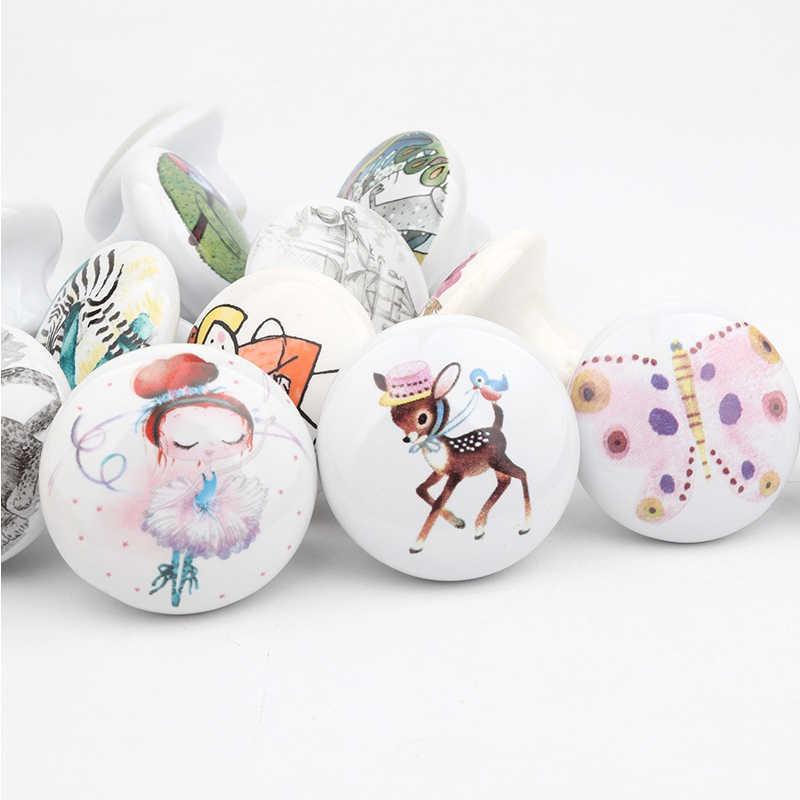Round Red Octopus Children/'s Bedroom Ceramic Cupboard Door Handles Kids Fun Animal Themed Drawer Pulls Child/'s Decor