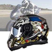 2020 New Flip Up Motorcycle Helmet Double Lense Full Face Helmet