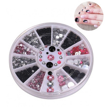 Jewelry Nail-Accessories Diamond-Box-Set Manicure Crystal Acrylic Professional