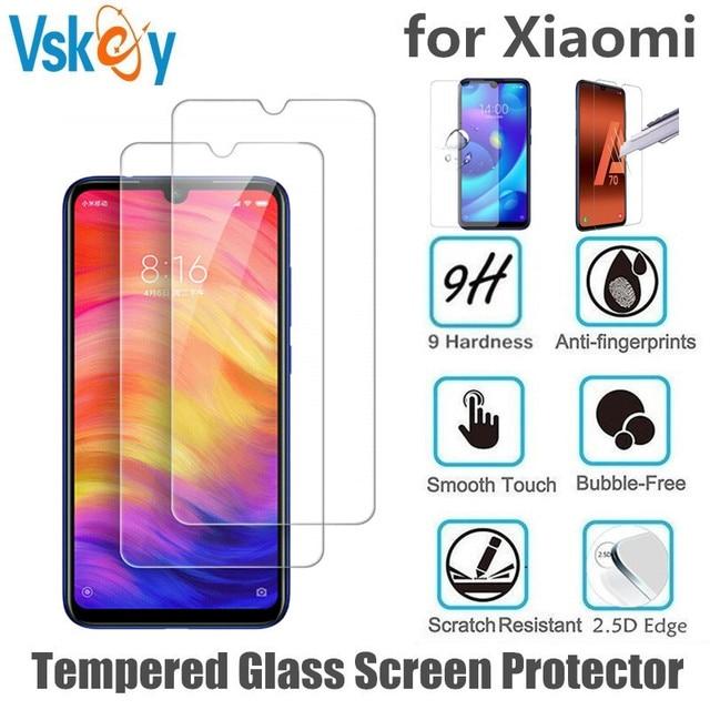 VSKEY 100pcs 2.5D Tempered Glass for Xiaomi Redmi Note 8 Pro Screen Protector Anti Scratch Protective Film
