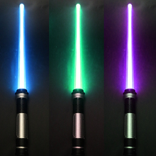 Flashing Light-saber Laser Double Star Wars Sword Toys Sound and Light for Kids Birthday Gifts Halloween Props Cosplay