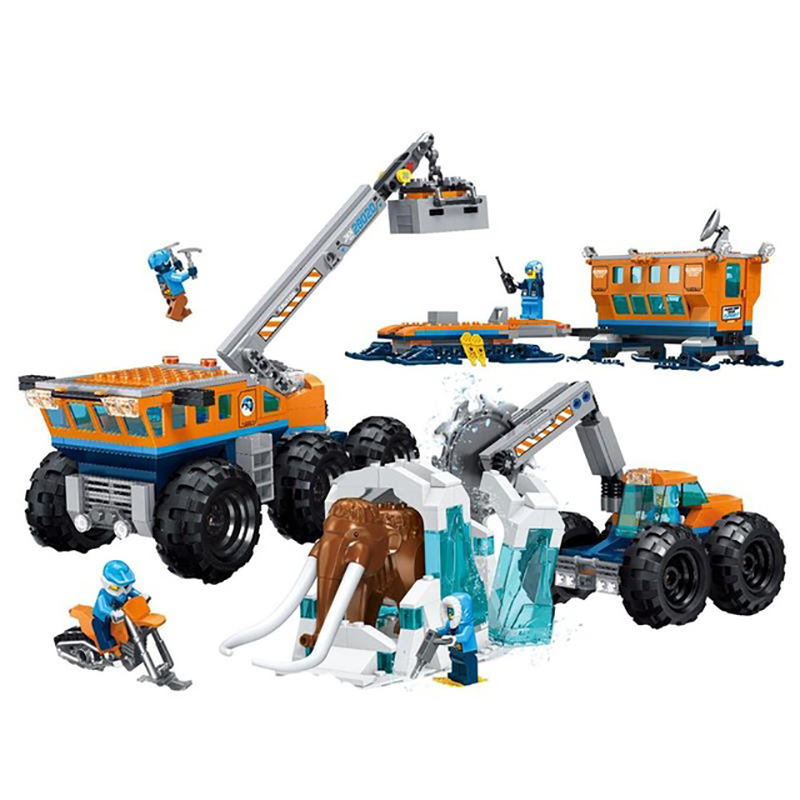 New City Arctic Exploration Compatible Legoing Arctic City 60195 Model Building Block Bricks Toys Children Gifts Christmas 28020
