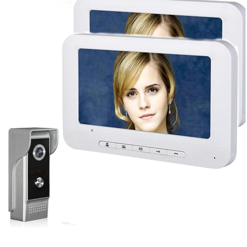 7'' TFT LCD Wired Video Door Phone Visual Intercom Doorbell System Indoor Monitor 700TVL Outdoor Waterproof IR Camera