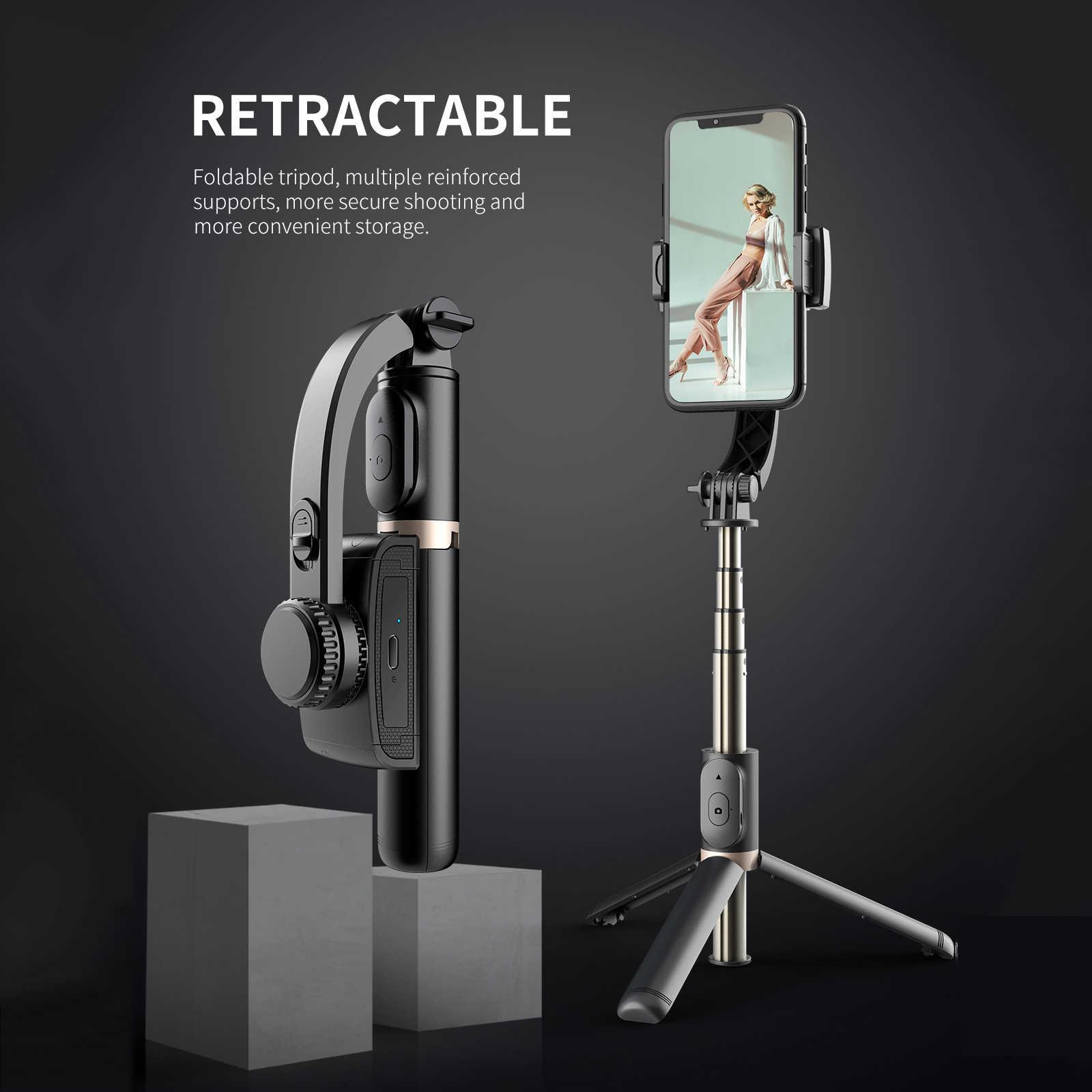 Estabilizador de cardán de mano para teléfono inteligente trípode/palo  Selfie antivibración inalámbrico Bluetooth Control remoto extensible  plegable|palos de selfie| - AliExpress