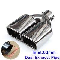 Universal silenciador tubo de escape guarnição 63mm 2.5