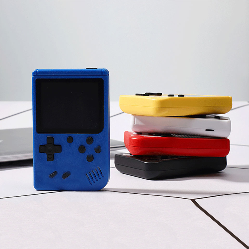 Nostalgic Portable Mini Handheld Video Game Console 8-Bit 3.0 Inch Color LCD Kids Color Game Player Built-in 400 games TV