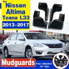 Set Molded Car Mud Flaps For 2013 2014 2015 2016 2017 Nissan Altima Teana L33 Sedan Splash Guards Mud Flap Mudguards Fender us8 12 l33
