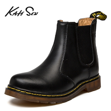 KATESEN new men boots fashion Chelsea ankle mens leather suede quality warm non-slip motorcycle