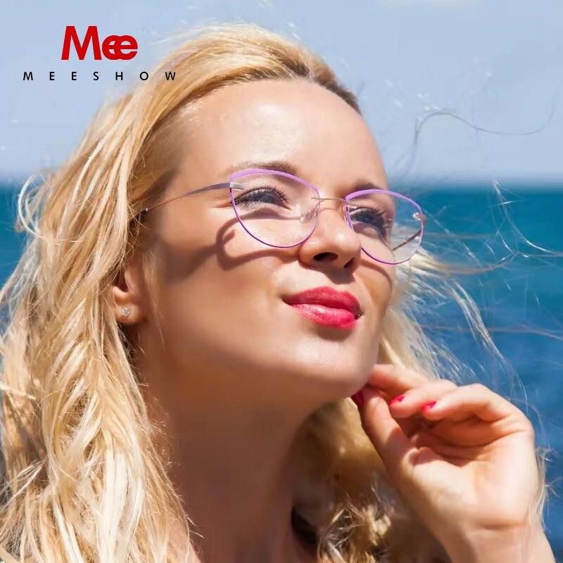 Marque designer Rimelss lunettes de lecture femmes lunettes de chat avec diopter TR90 anneaux lunettes Europe lecteur + 175 + 2.25 8510