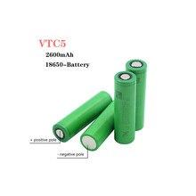10Pieces 3.7 V Volt Rechargeable US18650 VTC5 2600mAh VTC5 18650 Battery Replacement 3.7V 2600mAh 18650 Batteries