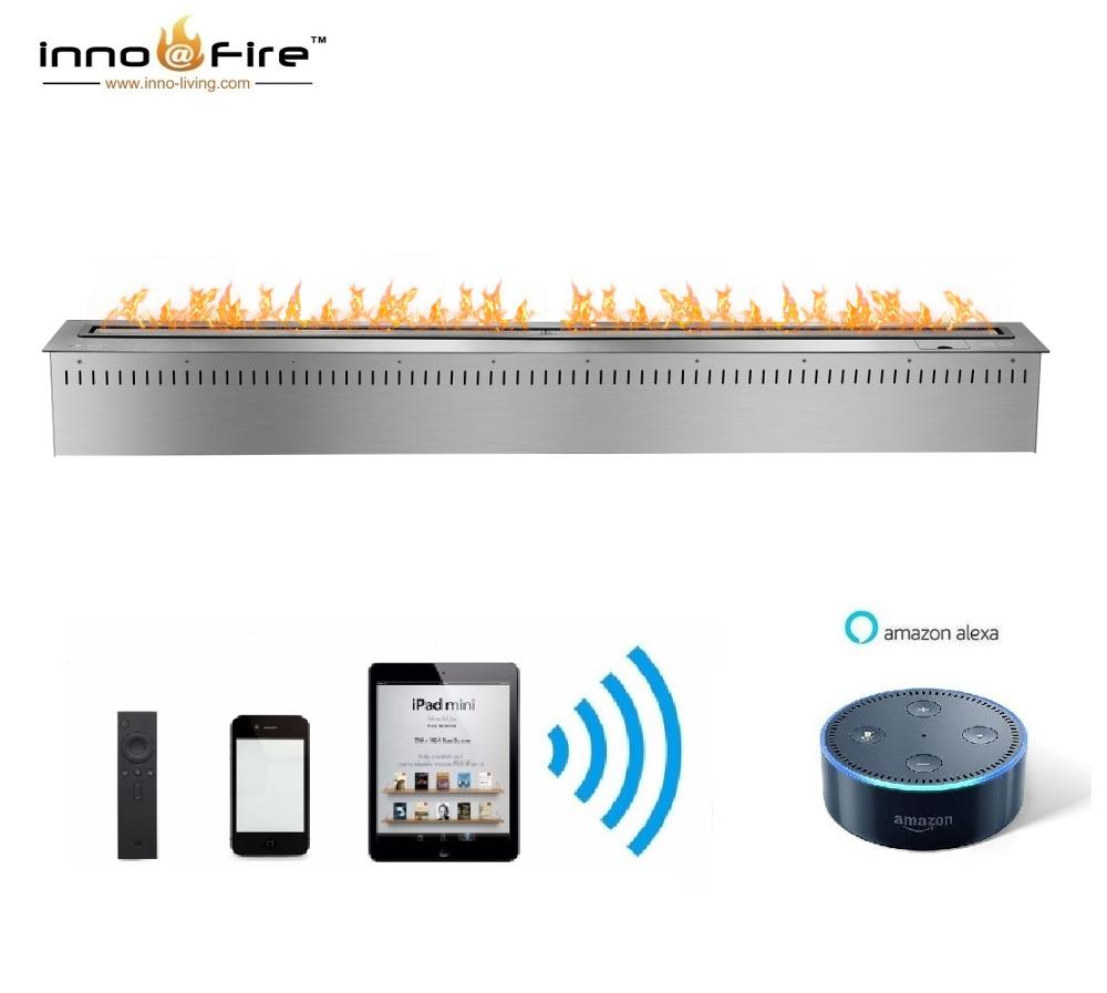 Inno Living Fire 72 Inch Automatic Fire Bio Wifi & Remote Control Fireplace Indoor Use