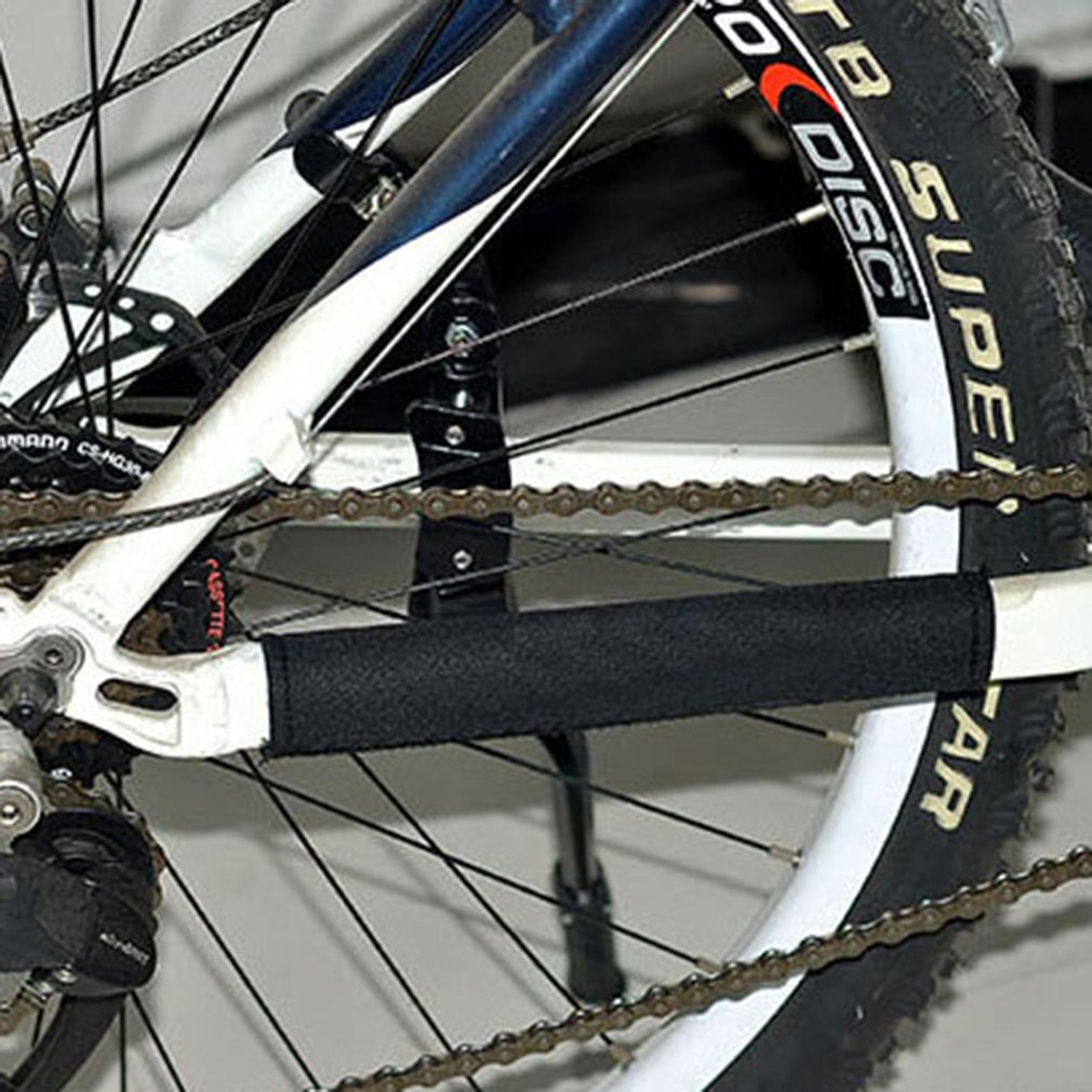 Mountain Bikes Road Bicycles Chain Protection Shield Diving Fabric Protect Chainwheel Parts Frame Protector Bike Accessories