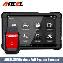 Ancel X6 pełny układ skaner OBD2 ABS DPF EPB SAS TPMS IMMO Reset oleju skaner samochodowy bezpłatna aktualizacja profesjonalne narzędzie diagnostyczne do samochodów tanie tanio CN (pochodzenie) ANCEL X6 OBD2 Scanner 1inch 8 66inch Plastic Silnik analyzer Bluetooth Keeping Update 5 11inch Read and clear DTC For all system