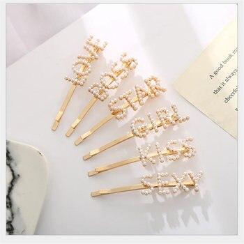 1 Uds./Clips de pelo de letras de perlas de moda coreana para...
