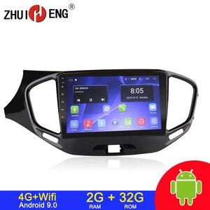 Image 1 - Android 9.1 4G wifi 2din car radio for LADA Vesta Cross sport 2015 2019 car dvd player autoradio car audio stereo radio 2G 32G