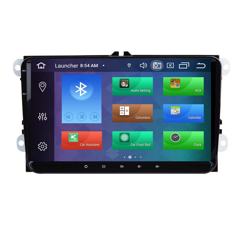 4GB 2 Din Android 10 autoradio GPS navigasyon için VW Passat B6 T5 amarok volkswagen Skoda Octavia 2 koltuk leon 2 golf 5 multimedya