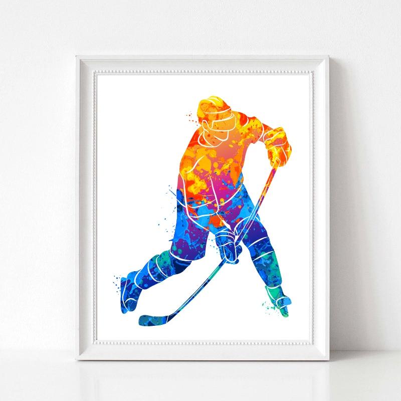 Hockey Player Poster Home Decor