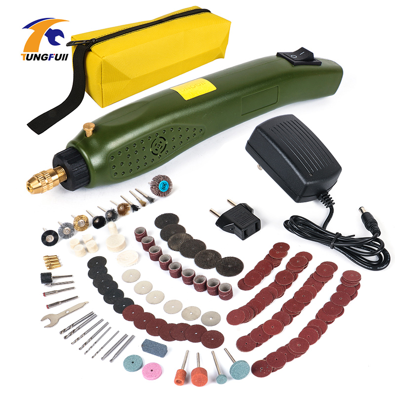 Power Type Hand Drill Mini Electric Drill With 275pcs Dril Bits Accessories Set Dremel Tool Engrave Pen US EU Carving Machine