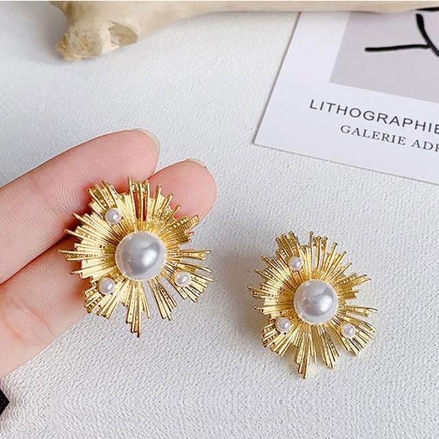 Купить женские серьги гвоздики с золотым жемчугом chyvenee винтажные картинки цена