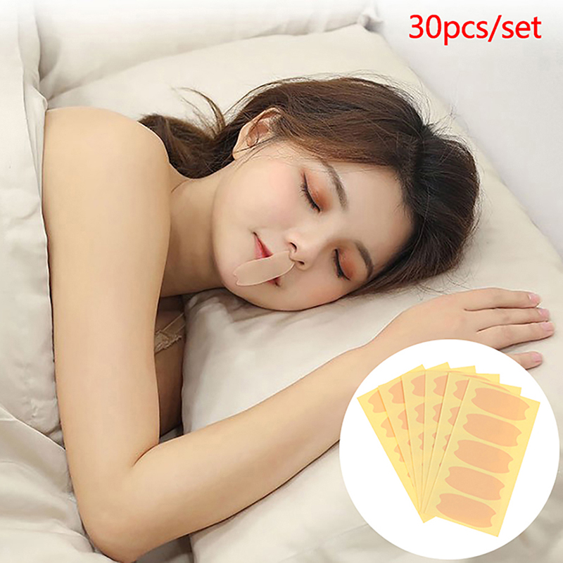 30PC Relieve Snoring Paste Nose Snore Stopping Anti Snore Stickers Adult/Kid Anti-snoring Device Close Mouth Sticker
