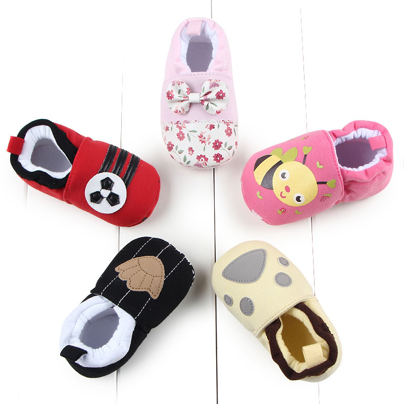 Baby Shoes First Walkers Newborn Baby Boy Girls Shoes Booties Cartoon Soft Sole Anti-slip Toddler Crib Fashion Shoes For Kids