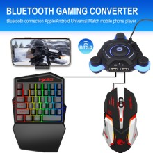 3 in 1 Bluetooth 5.0 Gaming Keyboard + Mouse + Converter Combo Kits For Smartphone PC PUBG Mobile Ga