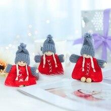 3PCS/Set Christmas Girl Santa Doll Decor Pendant Creative Tree Ornaments Decoracion Navidad
