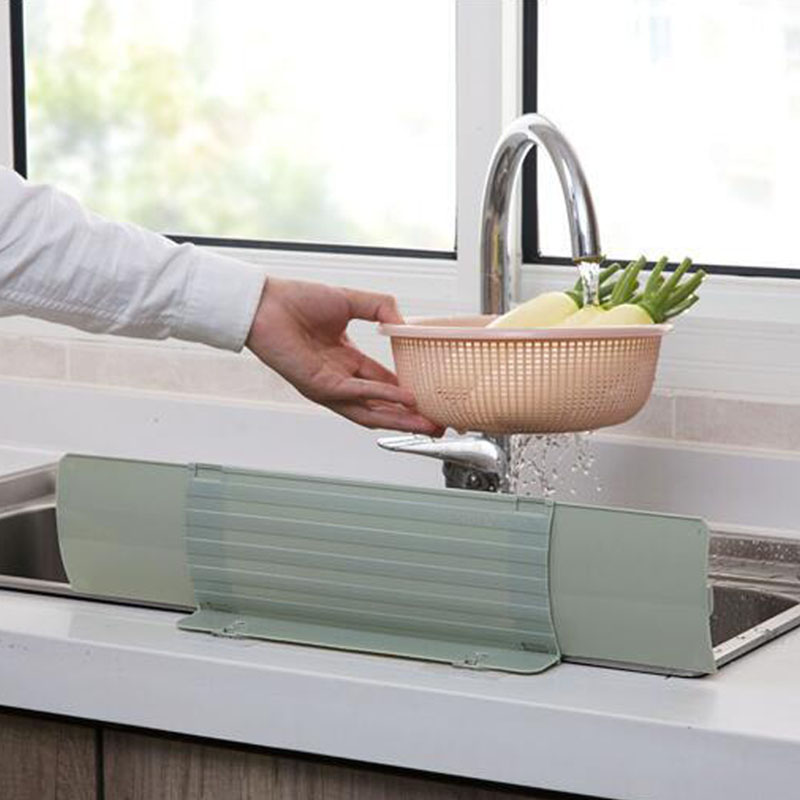 extendable suction cup splash guard water sink flap soft household kitchen water barrier oil proof splashproof baffle